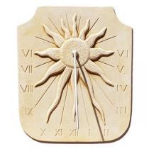 Cadran solaire astre solaire en pierre reconstituee
