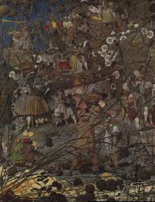 Richard dadd le coup de mai tre du bu cheron magicien 1855 1864 huile sur toile 54 x 39 cm tate britain londres